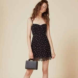 Reformation lisa mini dress with stars